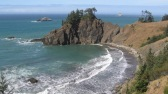 The Oregon coast south of Gold Beach.
