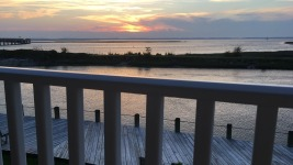 Sunset from our hotel balcony, Chincoteague, Virginia.