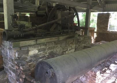 Part of the sugar mill ruins.