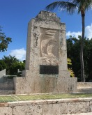 The Hurricane Monument in Islamorada commemorates the hundreds killed by the Category 5 hurricane that crossed the Keys here in 1935. With winds exceeding 200 mph, it was—and remains—the most powerful Atlantic hurricane to ever make landfall. The remains of more than 300 of its victims are entombed here.