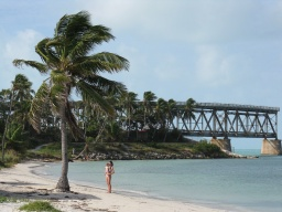 One of my favorite photos from 2009: the beach and old railway and highway bridge in Bahia Honda State Park.
