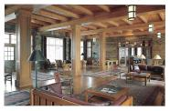 The Great Hall in Crater Lake Lodge closely recreates the 1920s appearance of the original lodge.