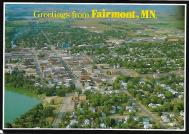 Even small cities like Fairmont, Minnesota (seat of Martin County) proudly promoted themselves with postcards.