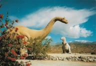 Just west of Palm Springs in Cabazon, California, these may be among the most filmed and photographed dinosaurs in the country.