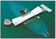 The USS Arizona Memorial, Pearl Harbor.
