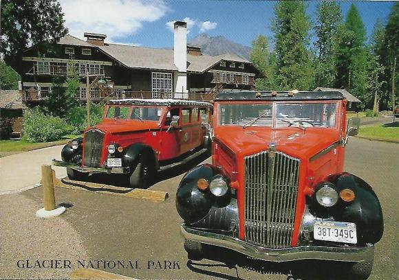 "These vintage motor coaches, or ""Jammers,"" outside Lake McDonald Lodge have been taking visitors over Glacier National Park's Going-to-the-Sun Highway since the 1930s."