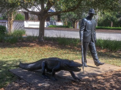 "The sculpture in Compass Rose Park on Hilton Head Island, SC, is based on a photo that appeared in 1962 in the ""Saturday Evening Post."" It was taken in the nearby Sea Pines Resort."