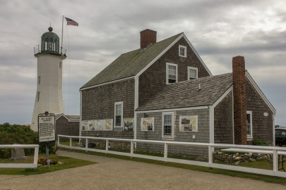 """The Scituate Lighthouse in Massachusetts lit its first light in 1811. During the War of 1812, the keeper's two daughters purportedly scared off a British warship by playing a fife and drum as though the local militia was approaching, earning them lasting renown as the """"Army of Two."""""""