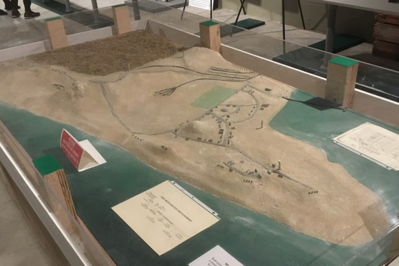 A model of Cape Henlopen and Fort Miles during the war.