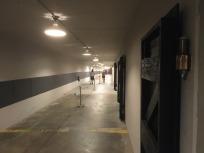 The corridor leading to the exhibit room.
