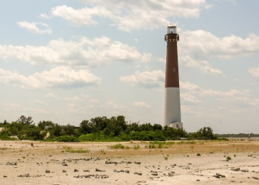 The 163-foot Barnegat Lighthouse (1859) on Barnegat Inlet on the Jersey Shore was designed by government engineer Lt. George Meade. He would later rise to the rank of general and command the Union army that would defeat the Confederates at the Battle of Gettysburg.