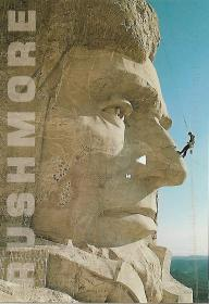 Abraham Lincoln gets his annual face lift at Mount Rushmore National Memorial.