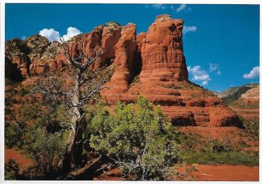 Coffee Pot Rock near Sedona, Arizona. They don't call it red rock country for nothing.