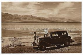 Badwater Basin in Death Valley hasn't changed much since this photo was taken in 1934. At 282 feet below sea level, Badwater is the lowest point in North America.