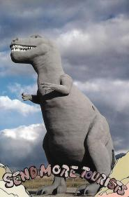 One of the famous roadside dinosaurs in Cabazon, California.