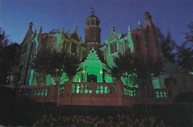 "The Haunted Mansion in Walt Disney World in Florida, ""where 999 ghosts, ghouls and goblins are just dying to greet you."""