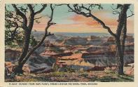 "This vintage postcard of the Grand Canyon is postmarked May 2, 1946. Its message reads, ""Having a wonderful time – the trip is grand, and marriage is all you said."""