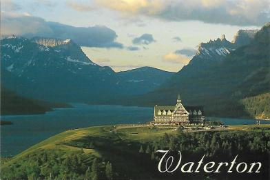 Prince of Wales Hotel sits a bluff in Waterton Lakes National Park in Alberta, Canada, just across the lake from Glacier National Park in Montana.