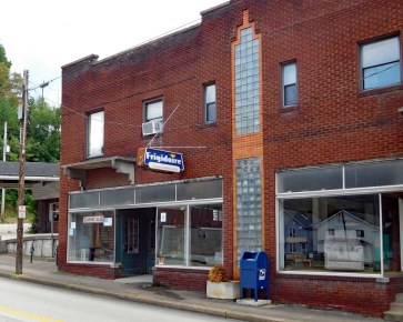 A vacant storefront in Point Marion.