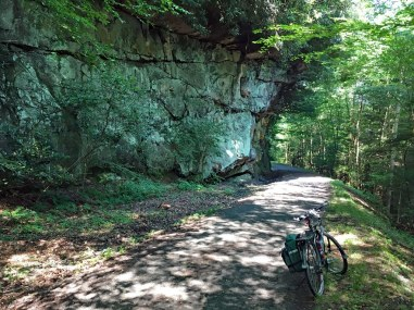 This spot on the Decker's Creek Trail also appears on the front of the trail brochure.