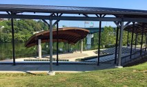The amphitheater in Morgantown's Riverfront Park.