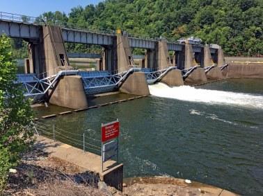 One of the many dams along the Monongahela.